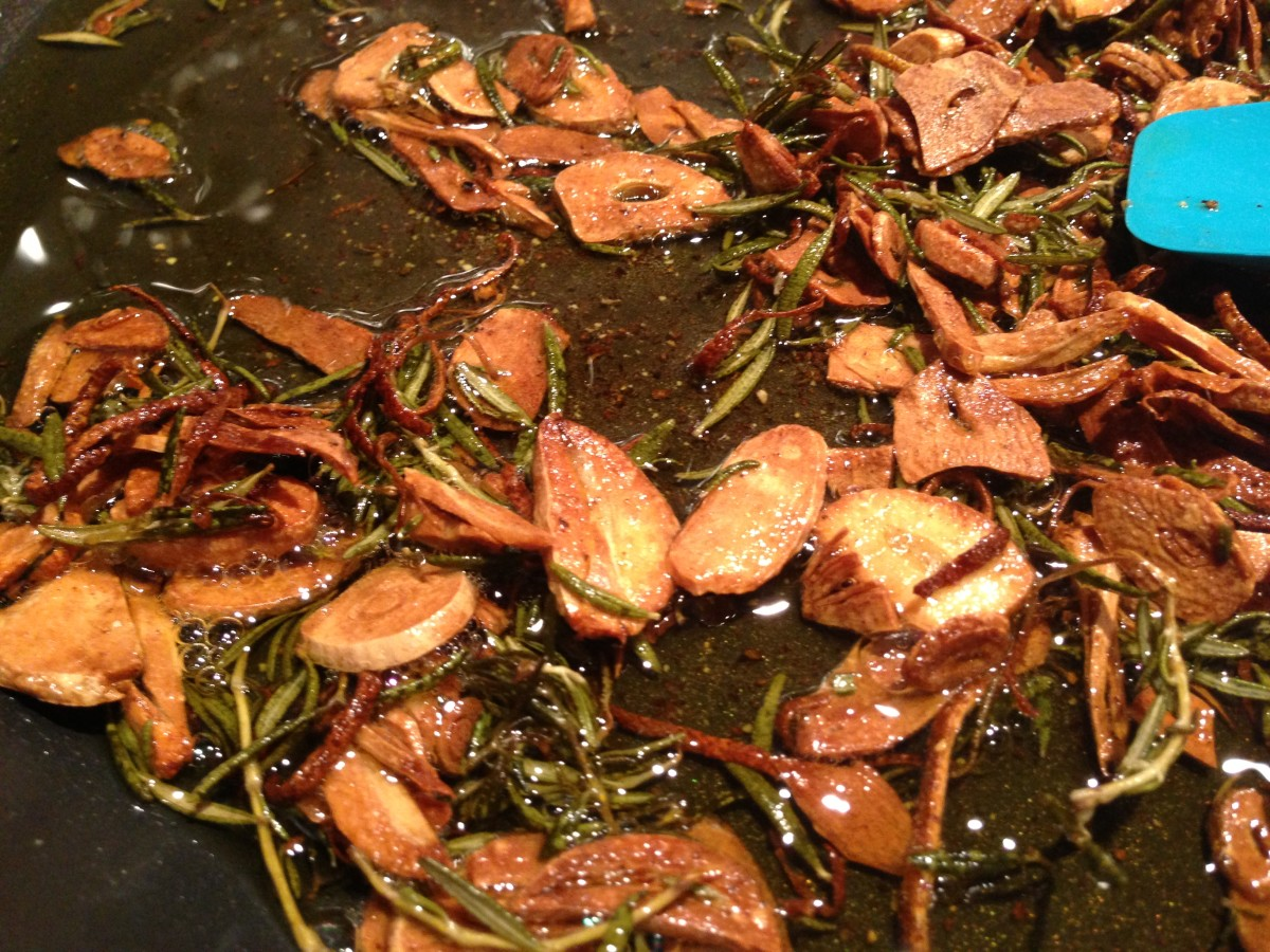 browned ingredients