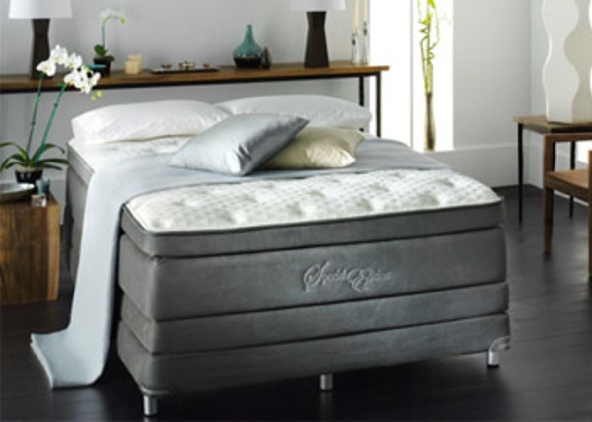 Luxury Mattress on matching platform base foundation.