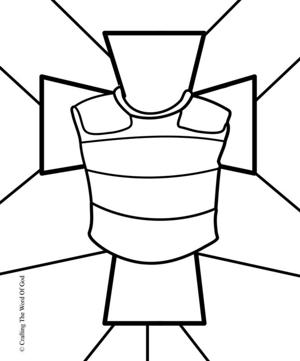 Breastplate Of Righteousness- Coloring Page