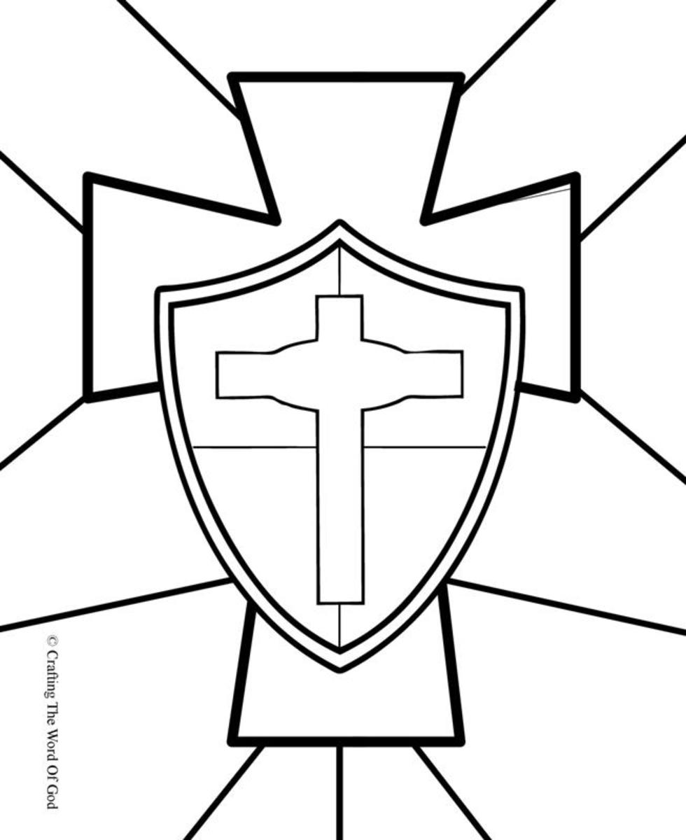 Shield Of Faith- Coloring Page