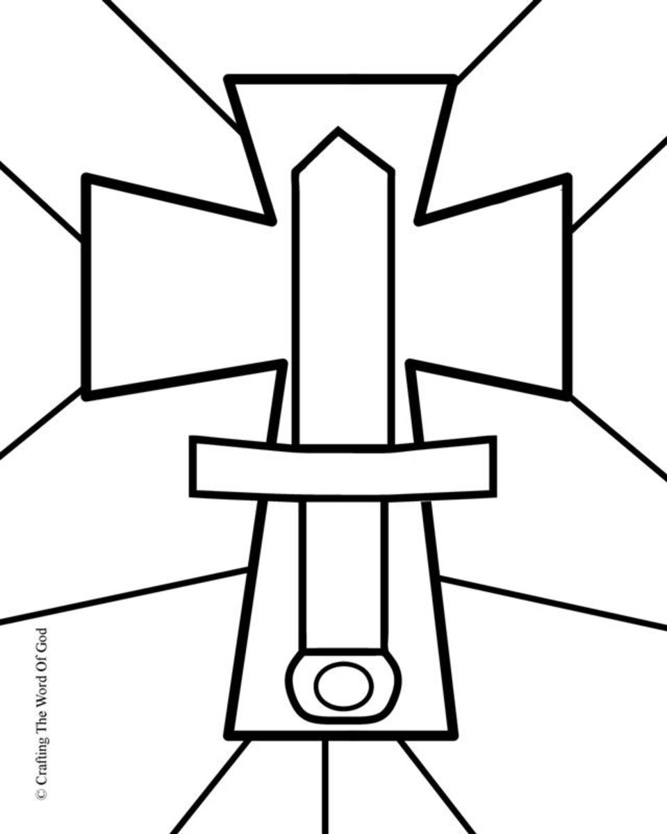 Sword Of The Spirit- Coloring Page