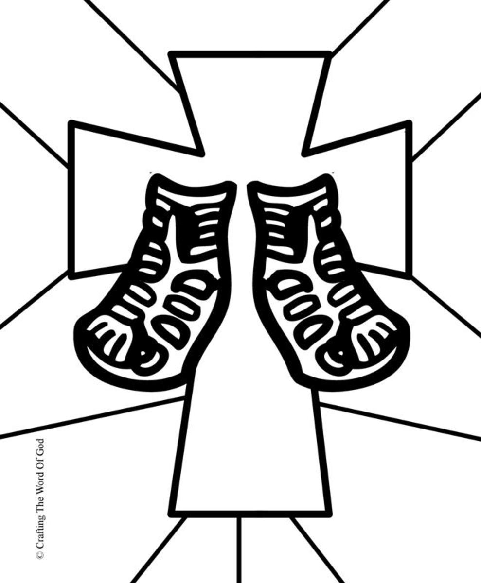 Sandals Of Peace- Coloring Page