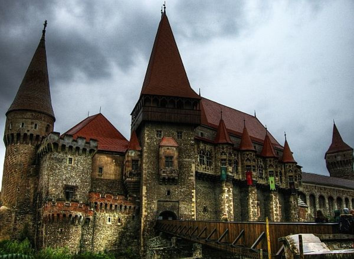 Hunyadi Castle in Hunedoara is another place that passes as the castle where Vlad was locked, however this isn't true. Photo by http://travelvice.com