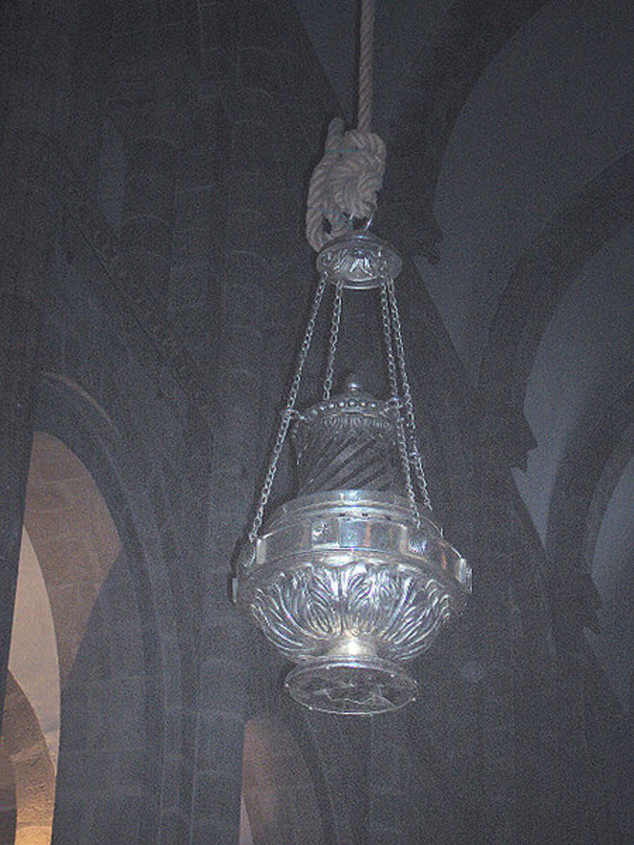 Giant censer at St Cathedral of Santiago de Compostela, Spain