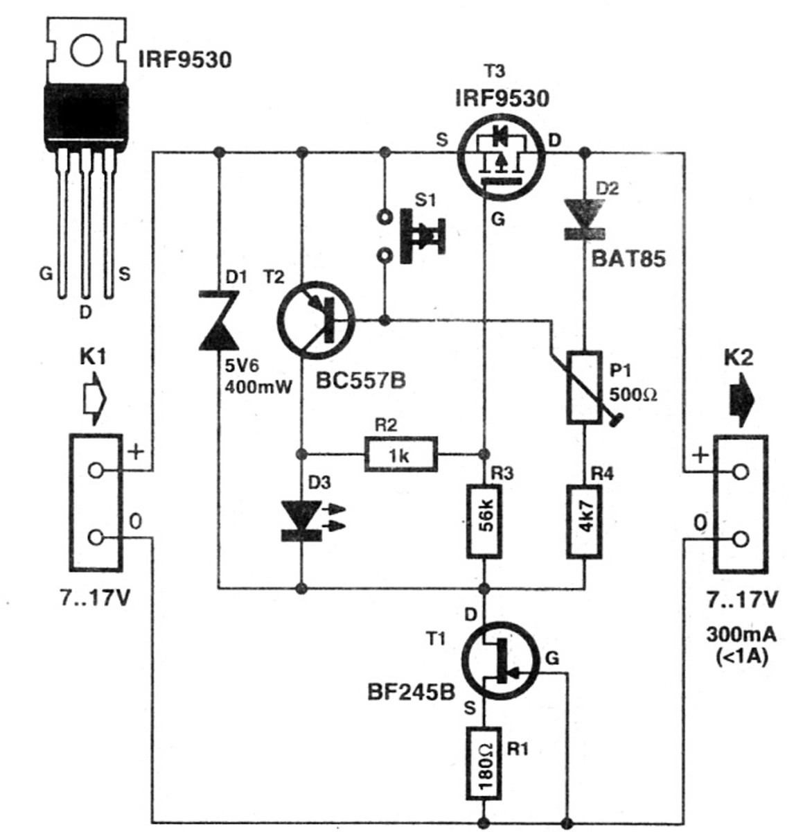 how to make an electronic fuse circuit