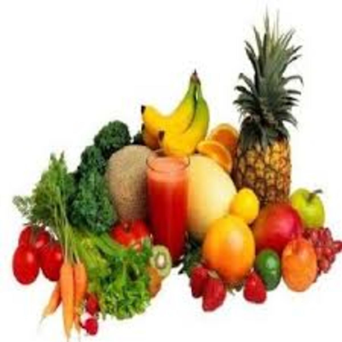Eat lots of vegetables and fruits.