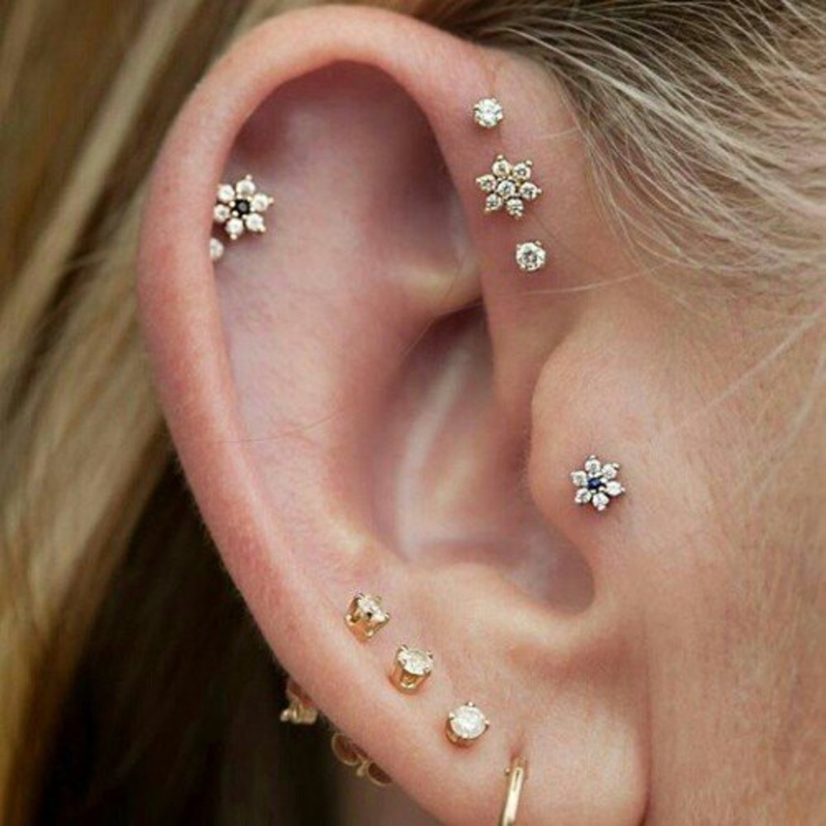 Proper Aftercare of a Pierced  Ear Cartilage Piercing Tragus