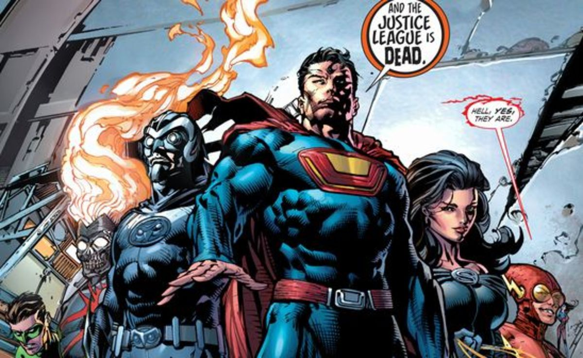 The Crime Syndicate have taken over. Excerpt from Forever Evil #1 (2013).
