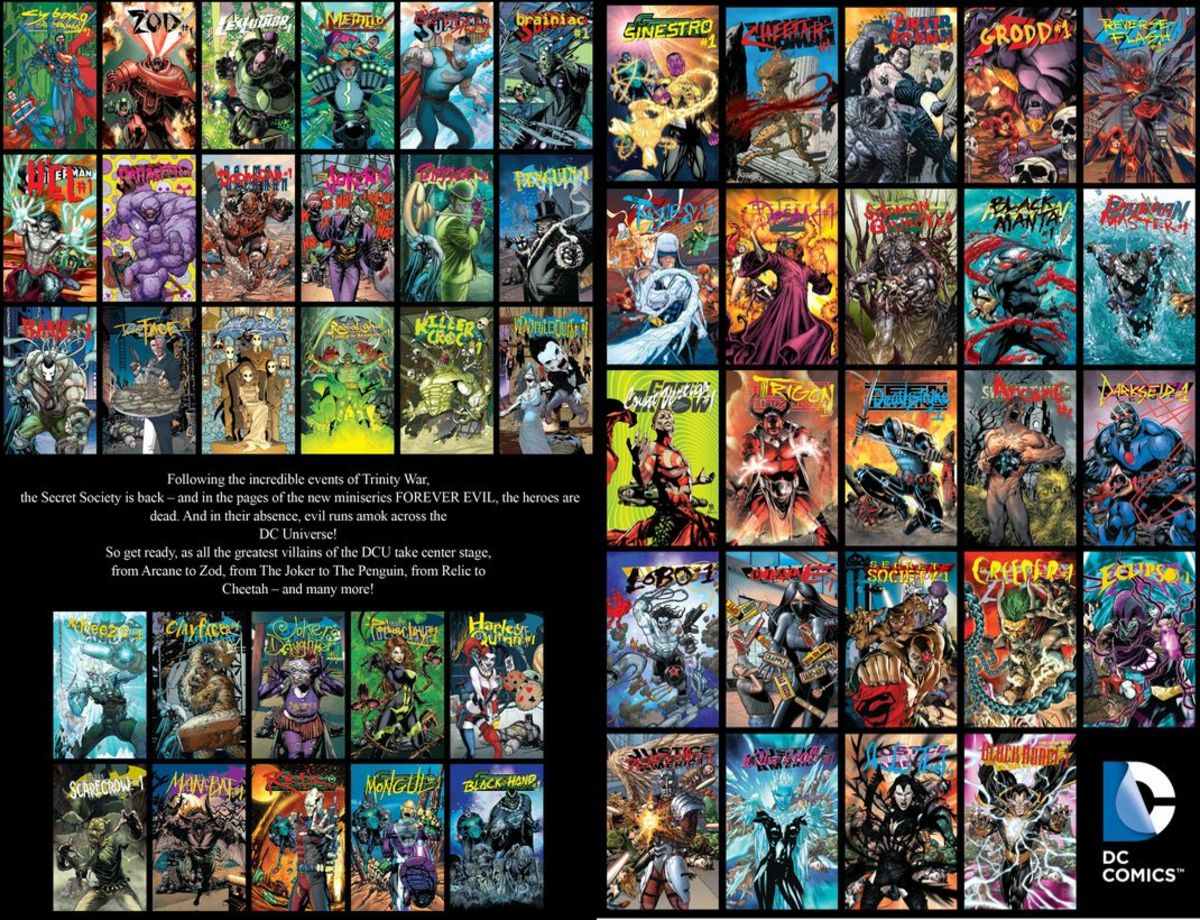 The issues released for DC's Villain's Month, September 2013