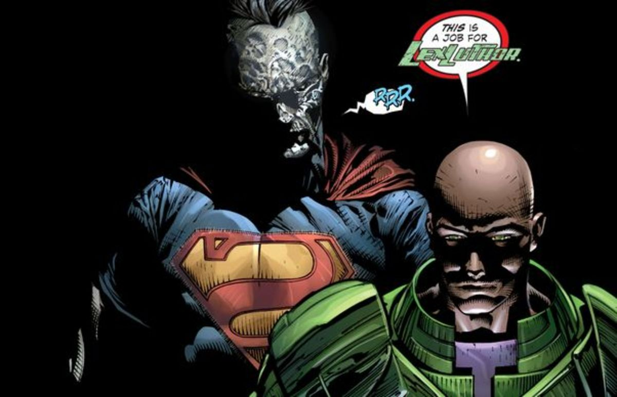 Lex Luthor and Bizarro Gear Up. Excerpt from Forever Evil #2 (2013)
