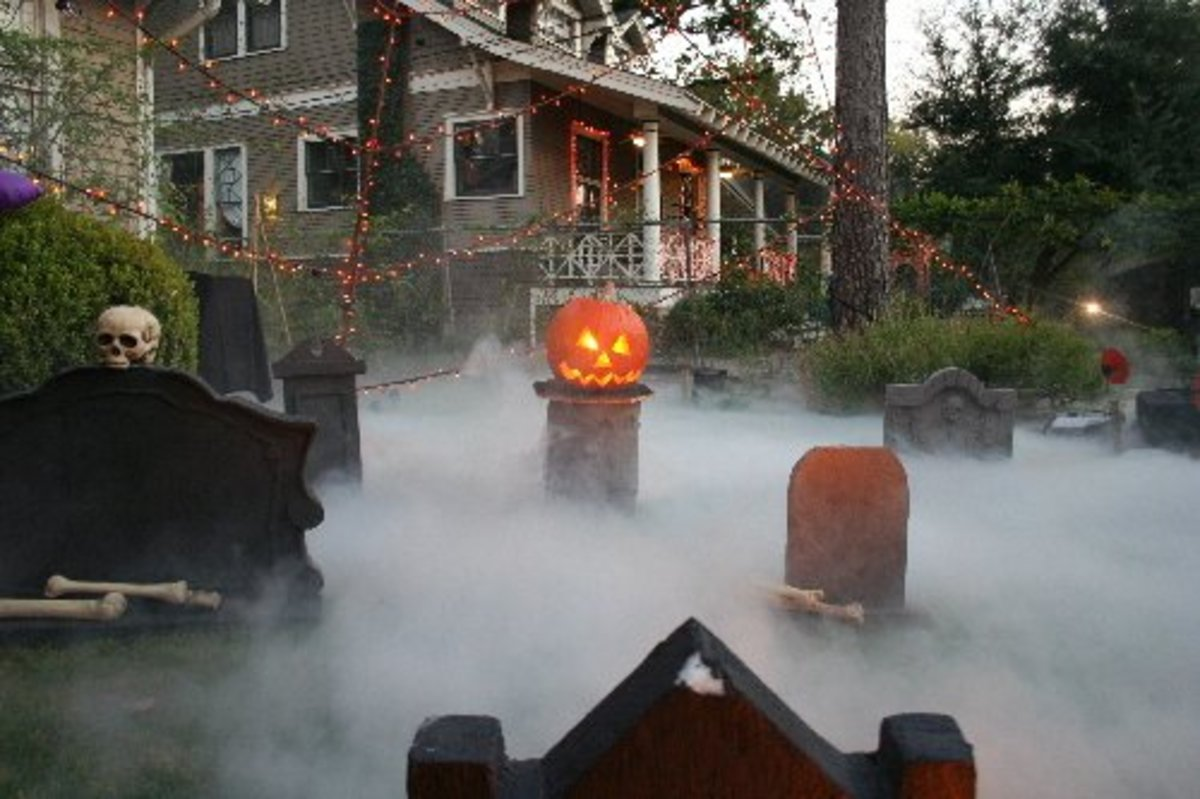 Halloween decorations, how to make a fog maker