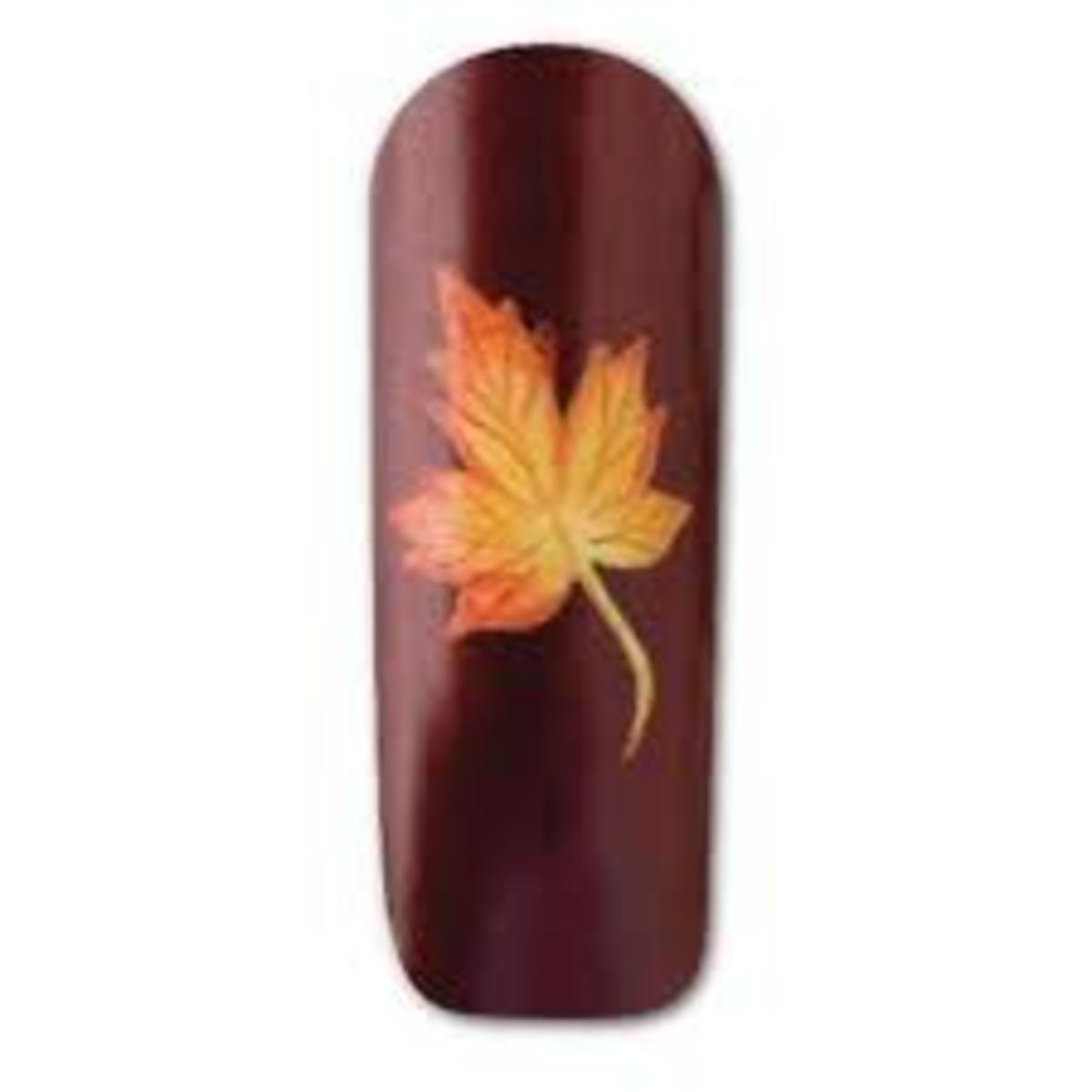Autumn leaves nail art.