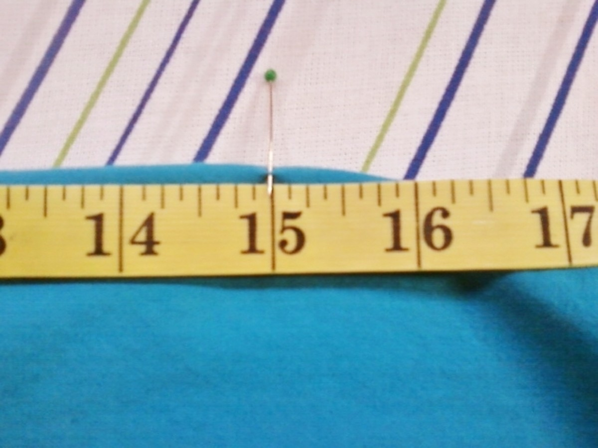 "A close-up of the straight pin at 15""."