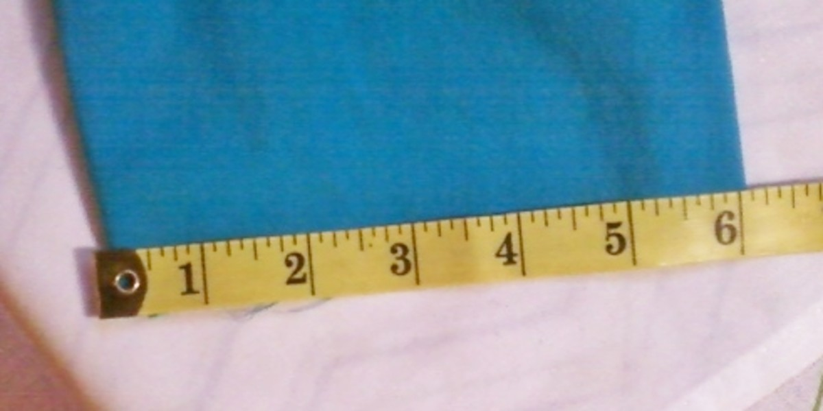 Measure the width of the sleeve where the cuff will be attached.