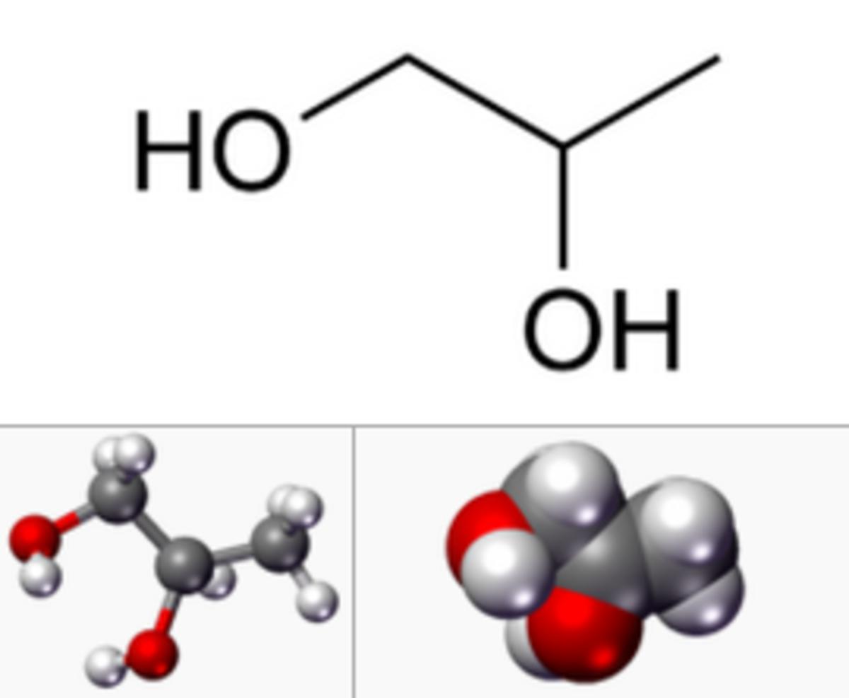 IUPAC name: Propane-1,2-diol Other names: Propylene glycol; α-Propylene glycol; 1,2-Propanediol; 1,2-Dihydroxypropane; Methyl ethyl glycol (MEG); Methylethylene glycol