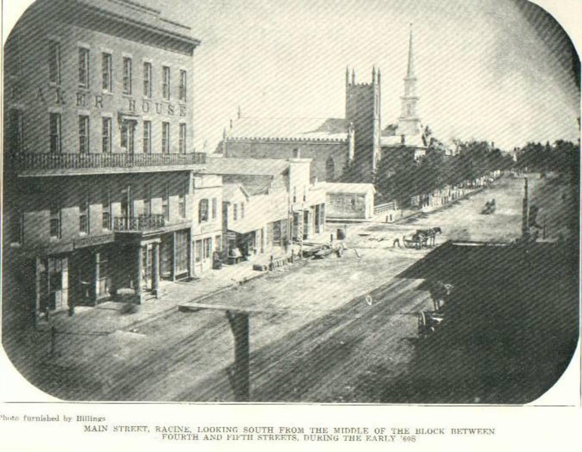 Main Street in Racine, IL 1860