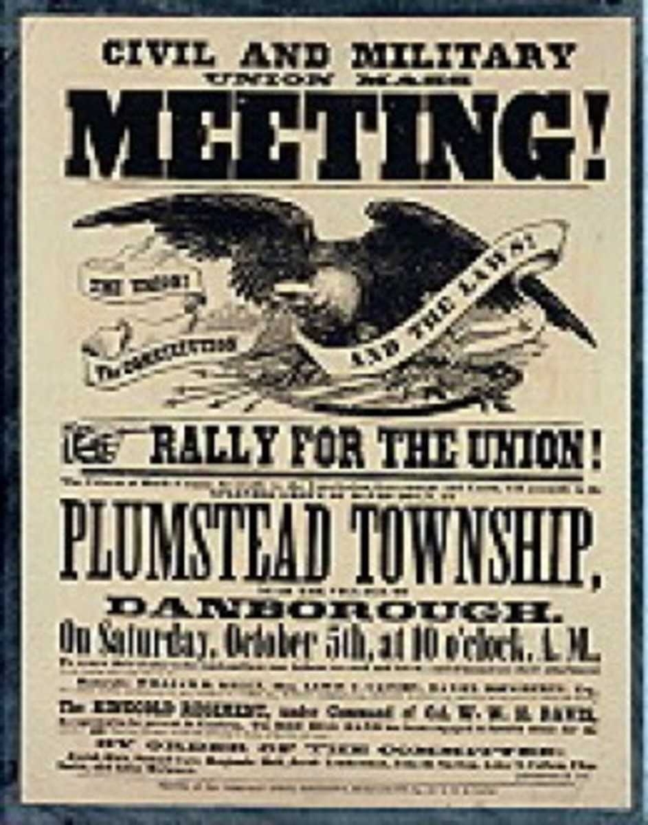A poster calls for a rally in the Massachusetts town of Plumstead