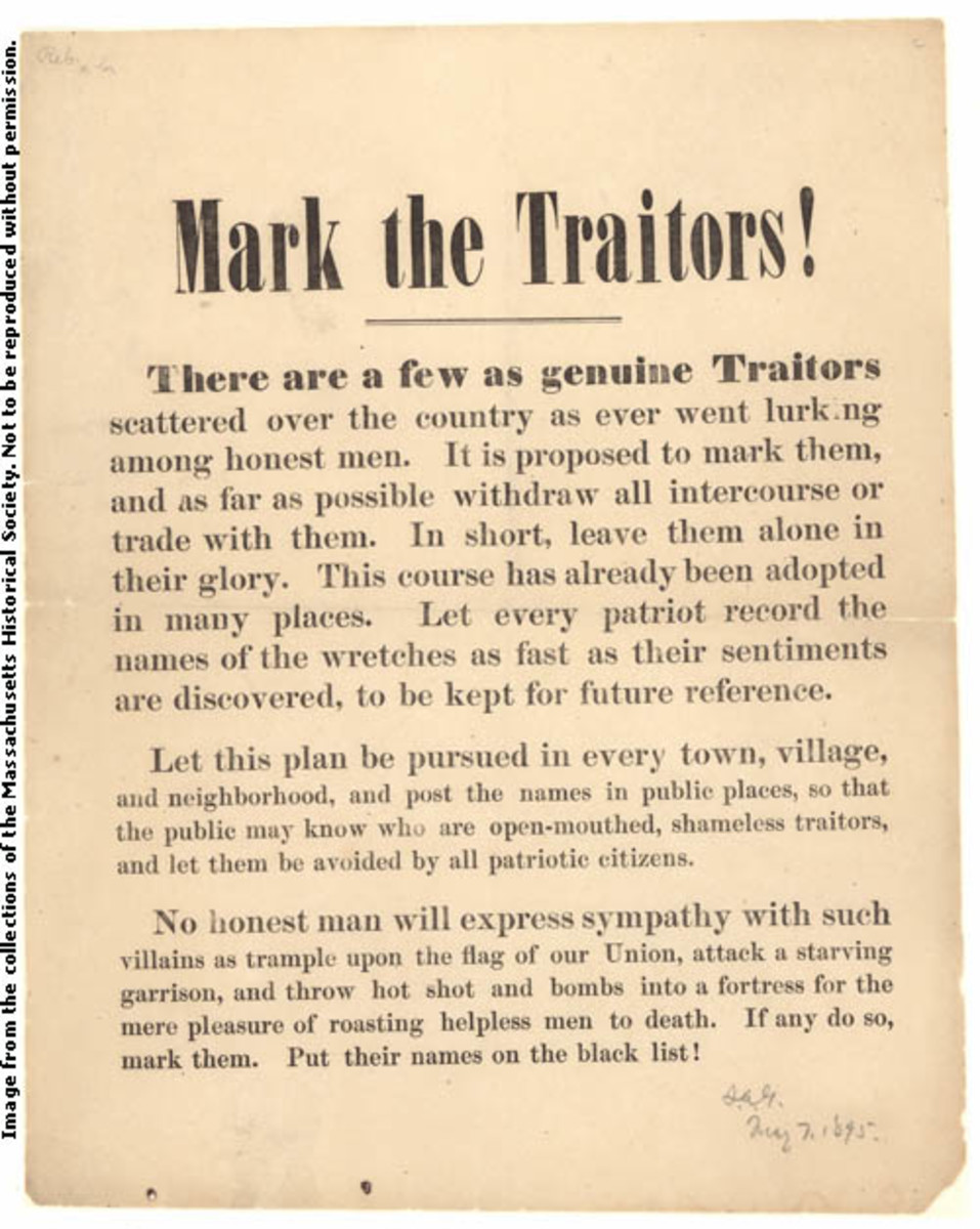"Poster condemns ""Traitors"" of the Union"
