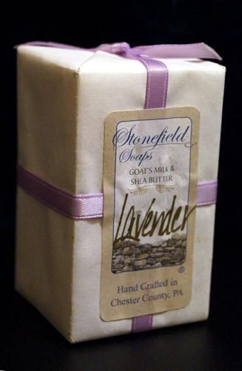 The Stonefield Soaps goat milk and shea soaps are wonderful.  Lovely scents.