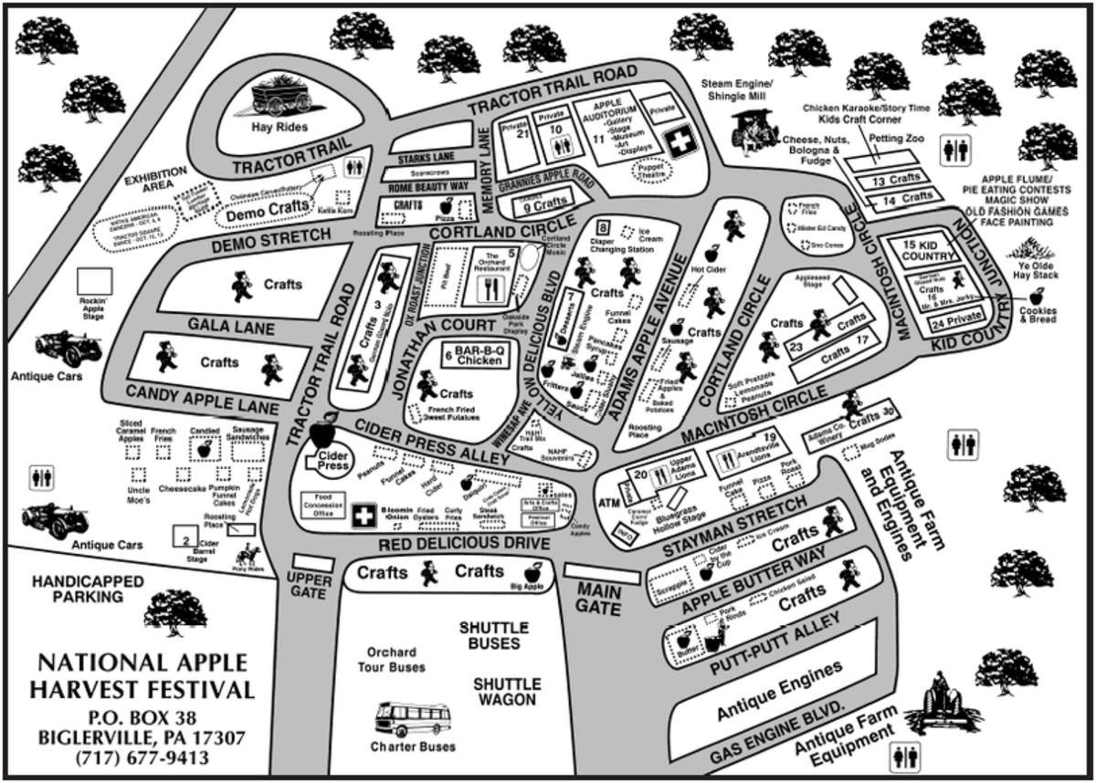 (map from the  National Apple Harvest Festival Website)