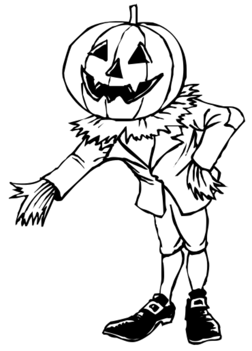 Pumpkin Man Coloring Page