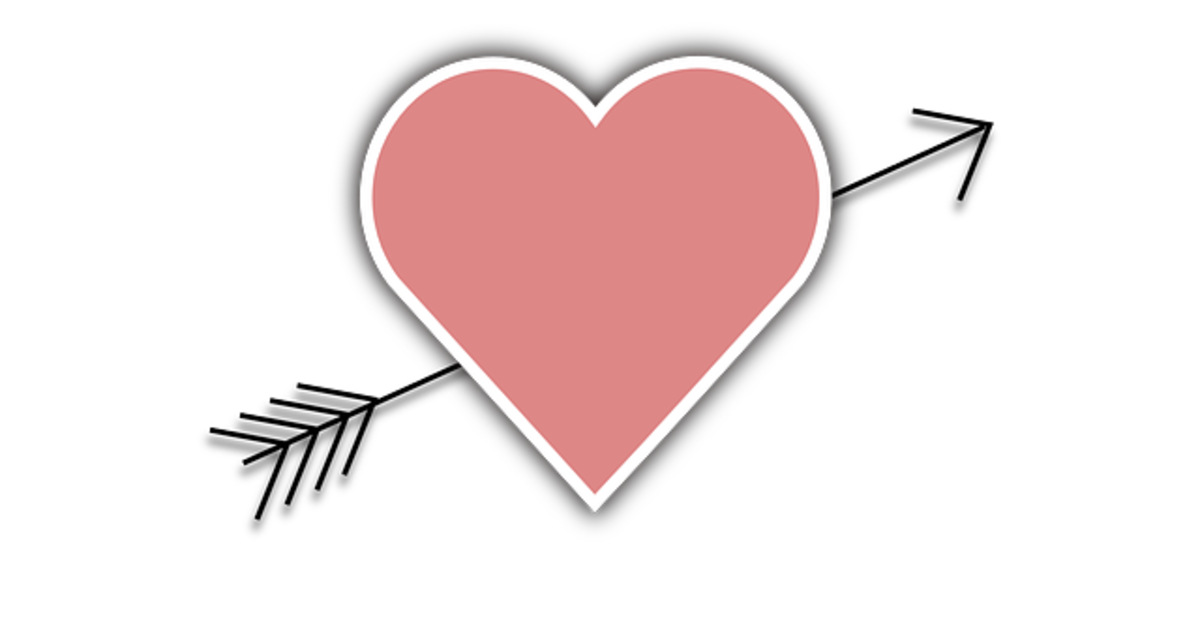 Pink Heart with Arrow Picture