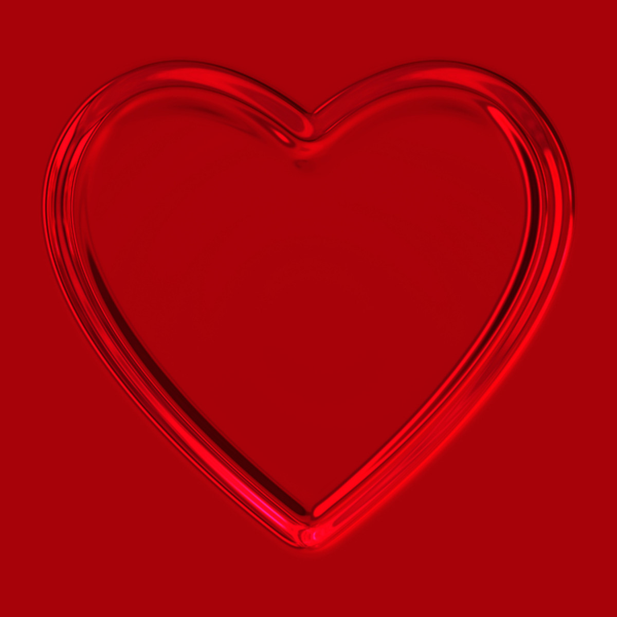 Glowing Red Heart