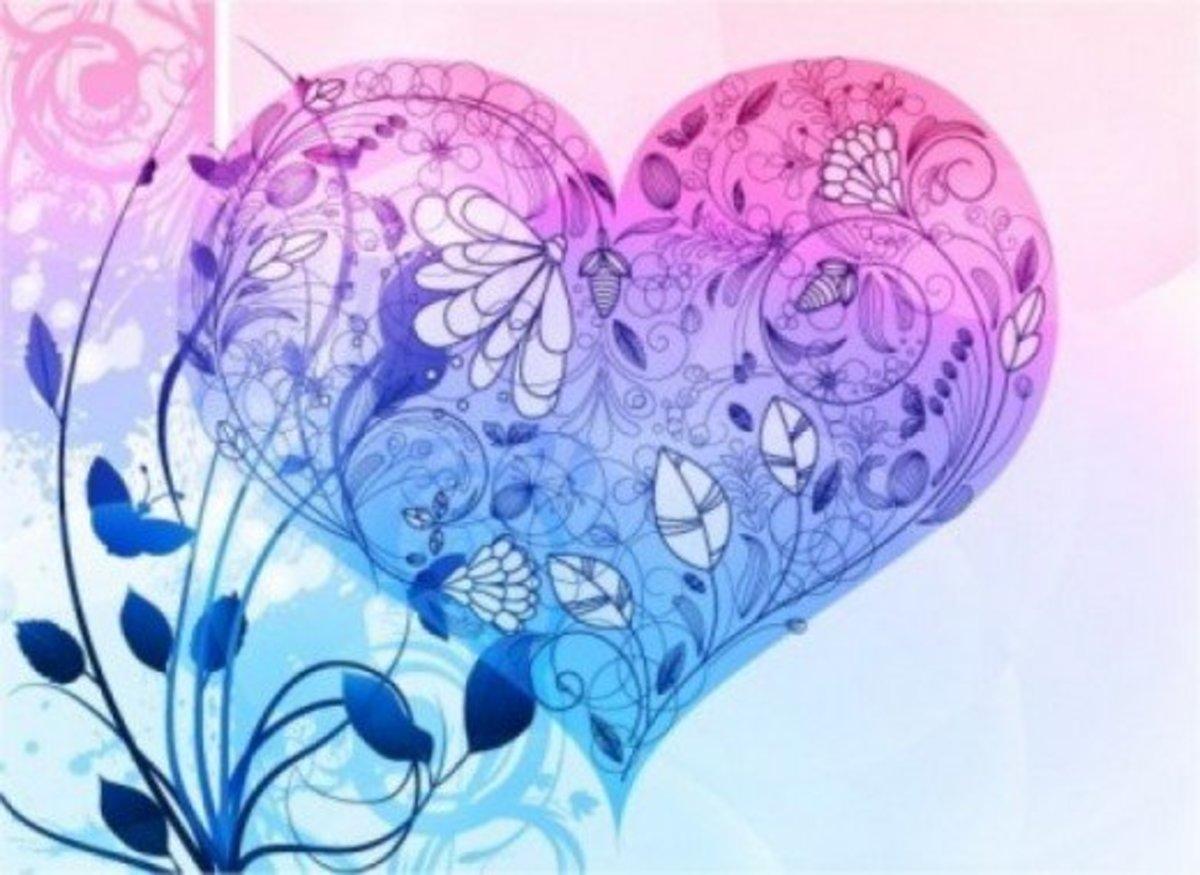 Pastel Blue Heart Image
