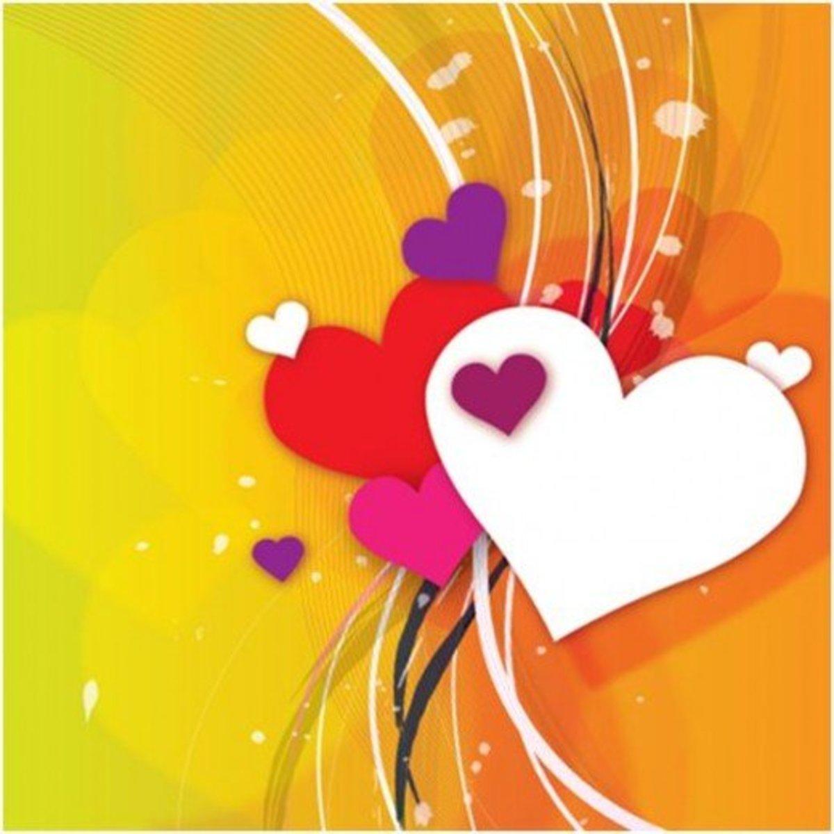 Multicolored Hearts Wallpaper