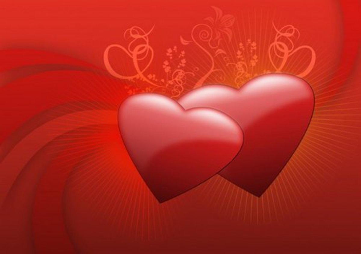 Two Red Hearts Picture