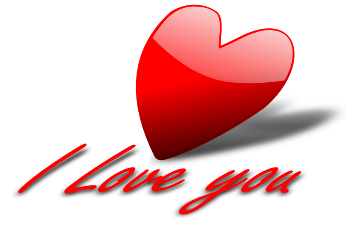 'I Love You' Red Heart Graphic