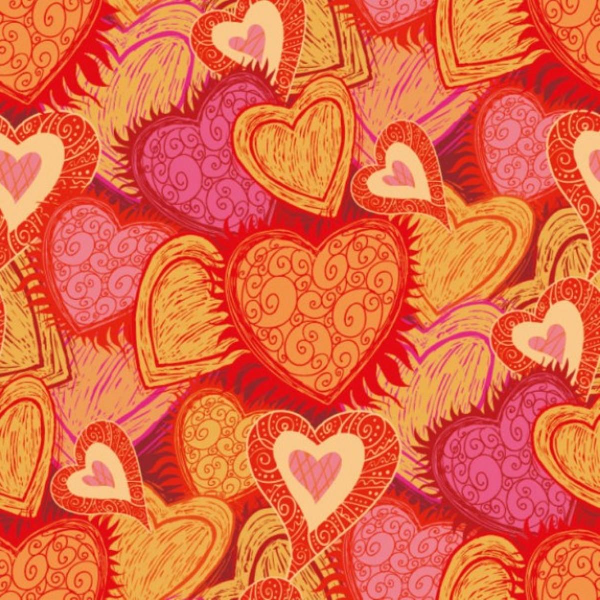 Art Deco Hearts Images