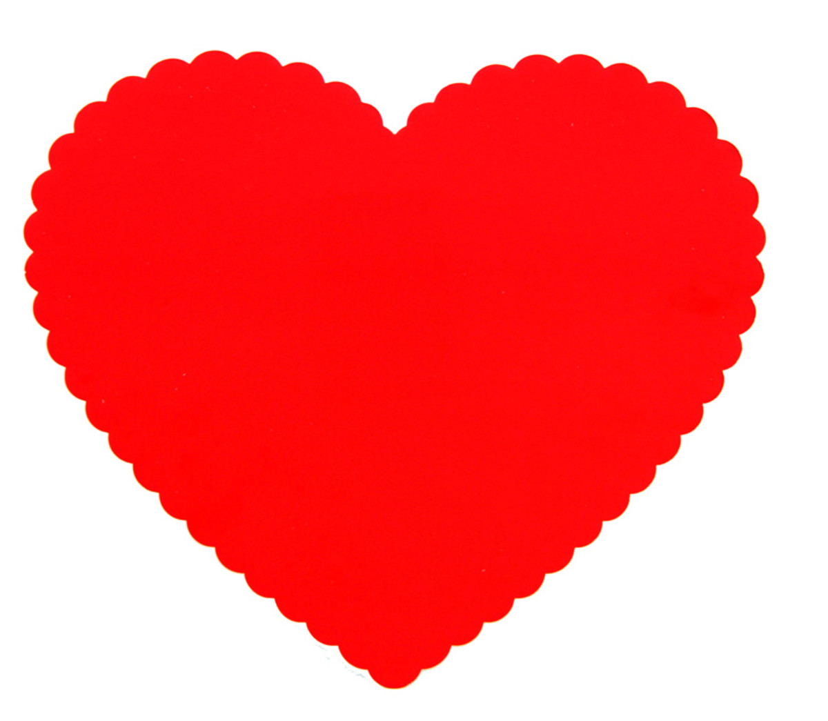 Scalloped Red Heart Pattern