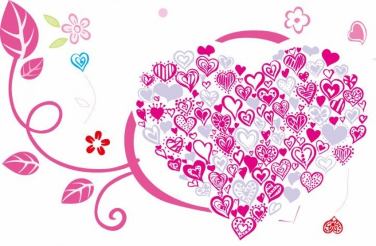 Heart Made of Pink Hearts Illustration