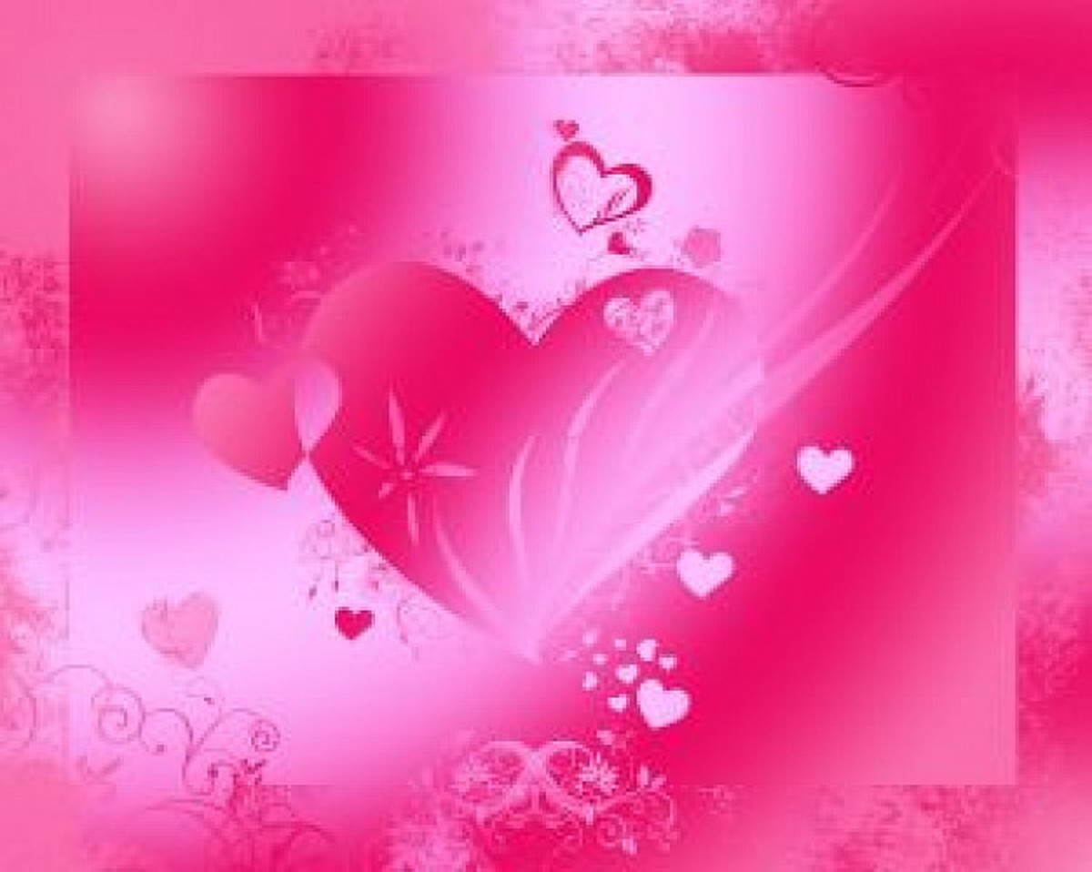 Hot Pink Hearts Picture