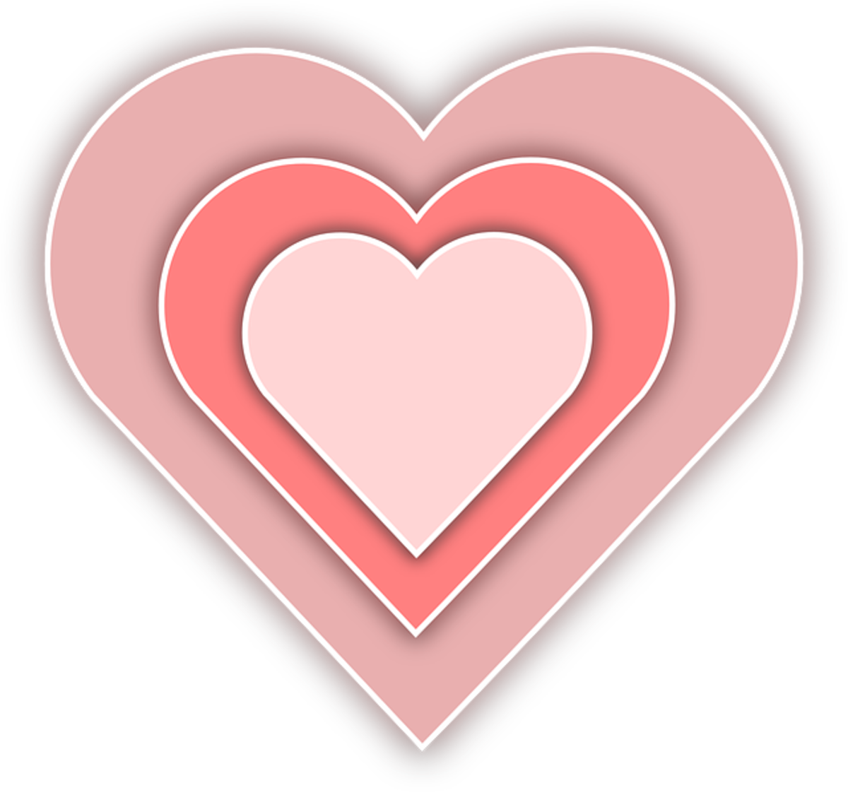 Three Pink Hearts Picture