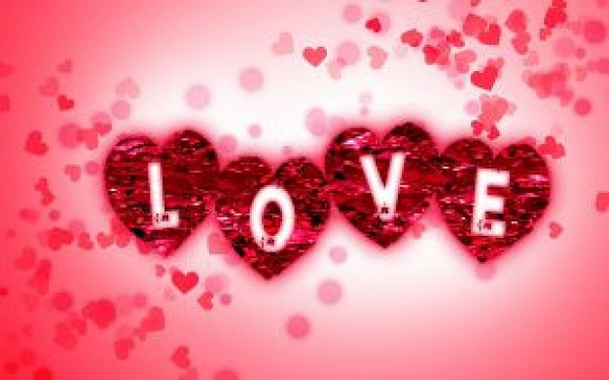 Love and Hearts Graphic