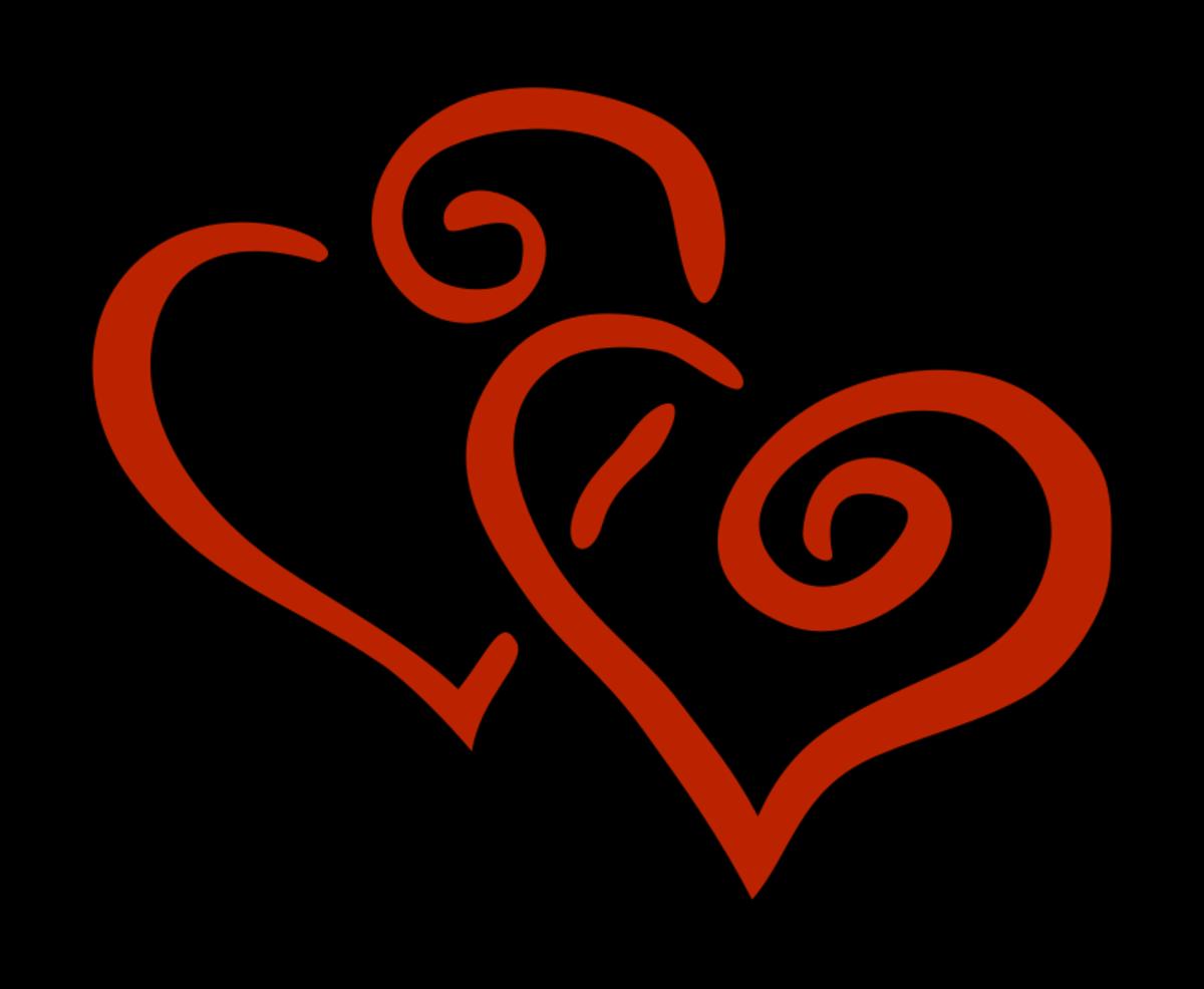 Interlocking Hearts Clip Art