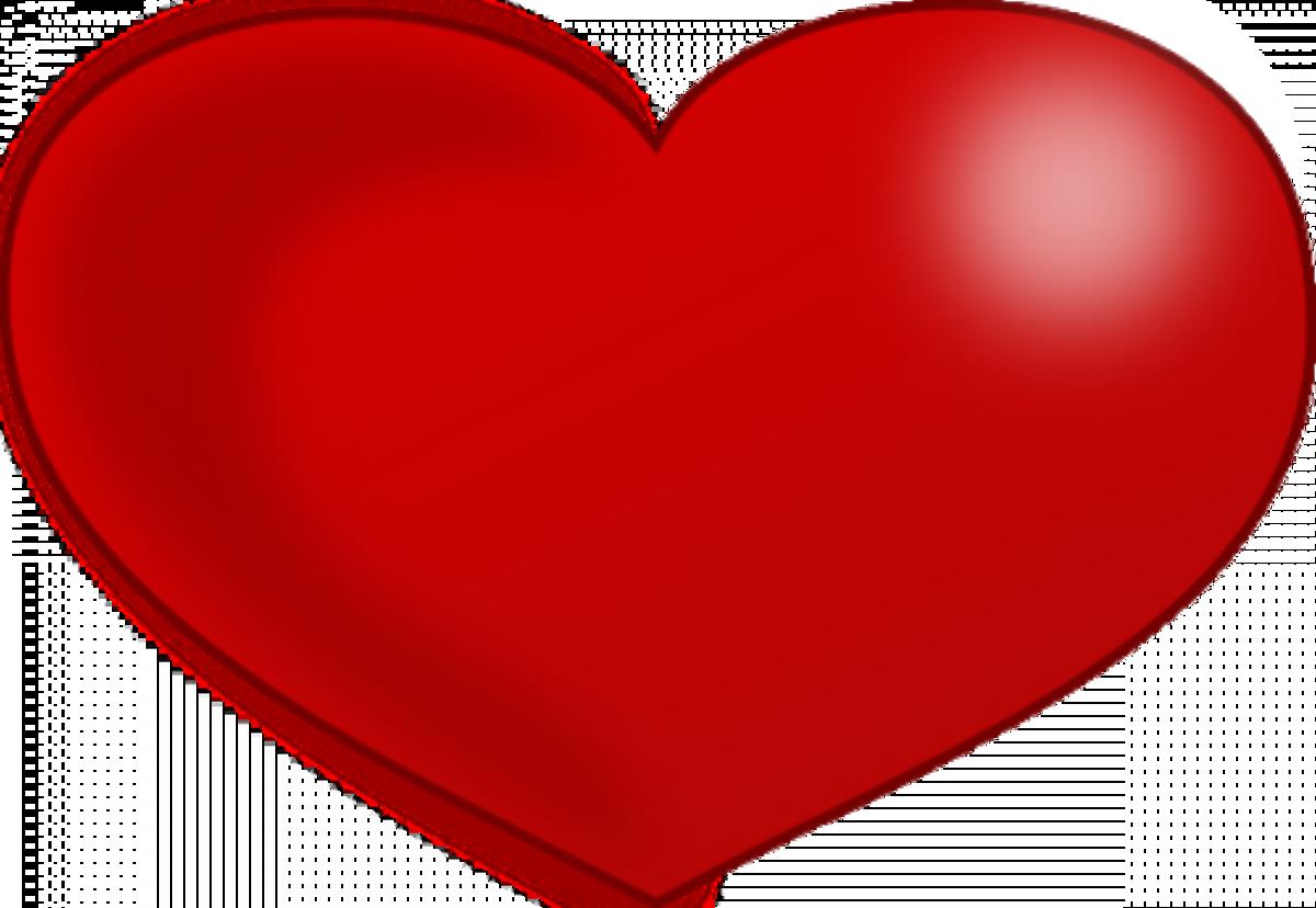 Deep Red Heart Pattern