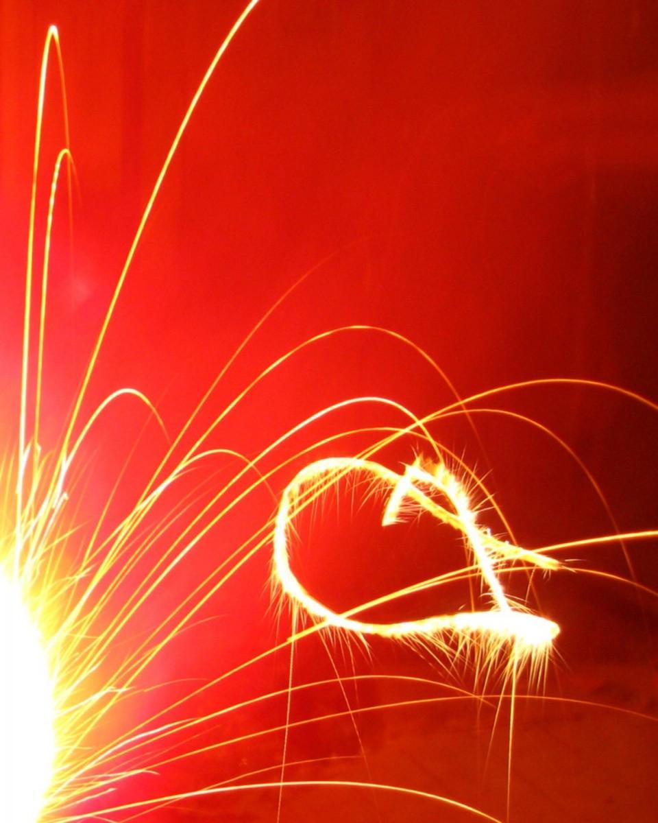 Sparkler Heart Image