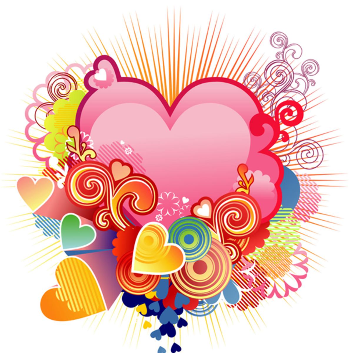 Hearts Drawing