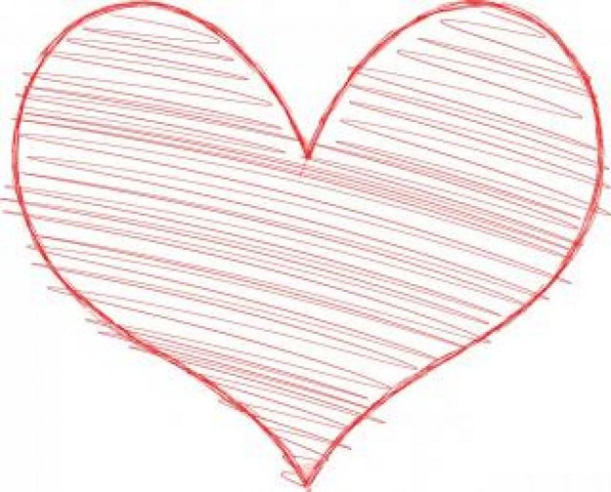 Heart Sketch Pattern