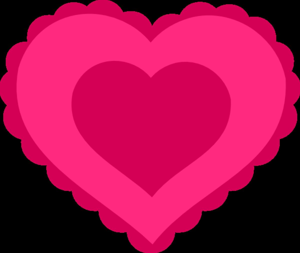 Scalloped Pink Heart Pattern