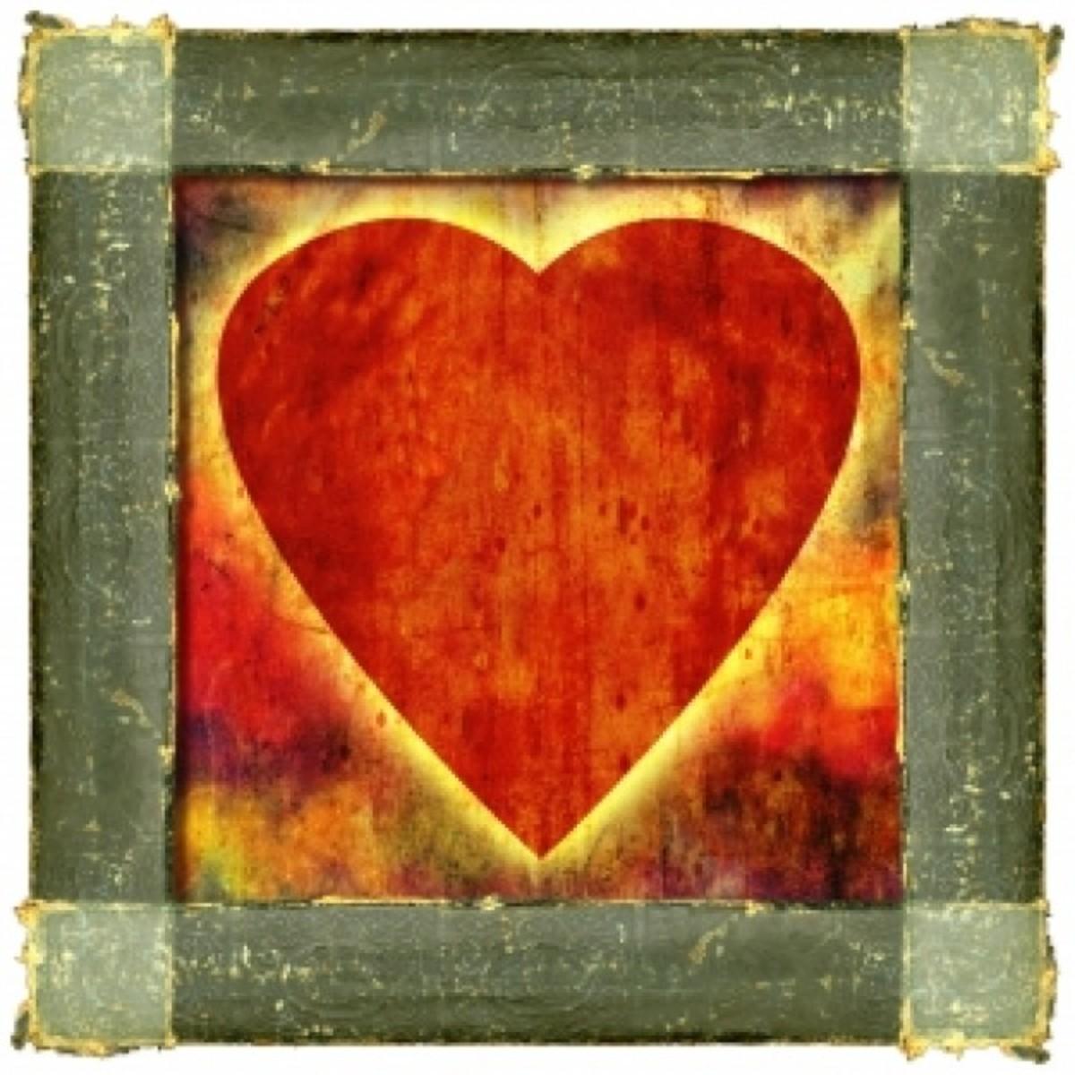 Barnwood Heart Painting