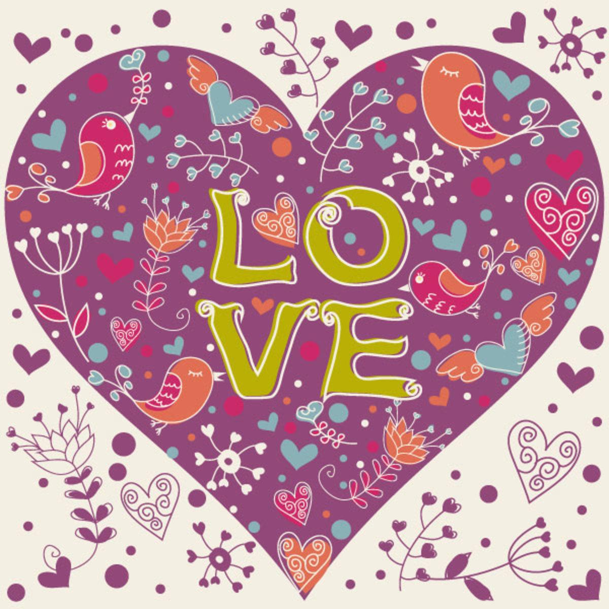 Pennsylvania Dutch Love Heart Picture