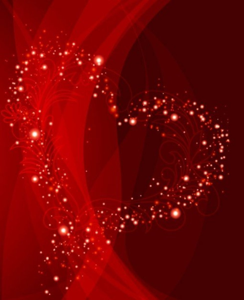 Red Glitter Heart Picture