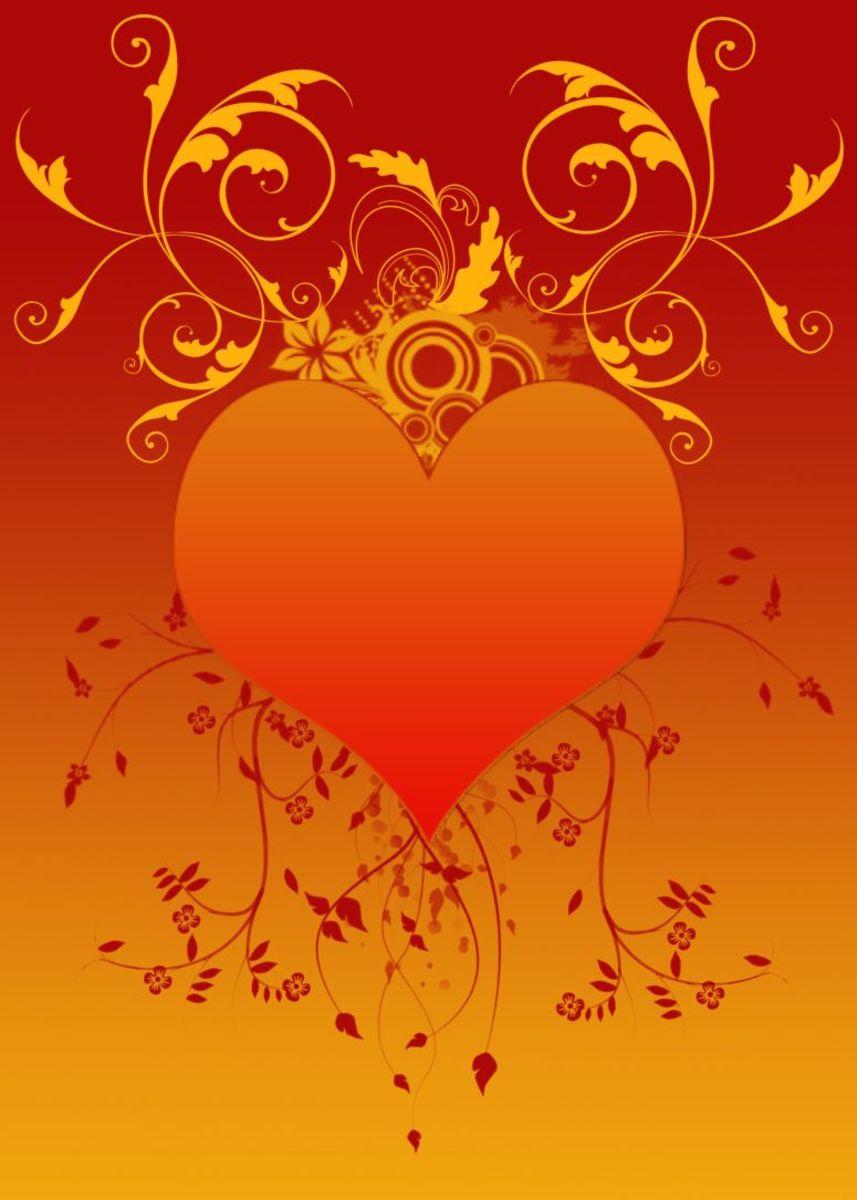 Orange Heart Picture