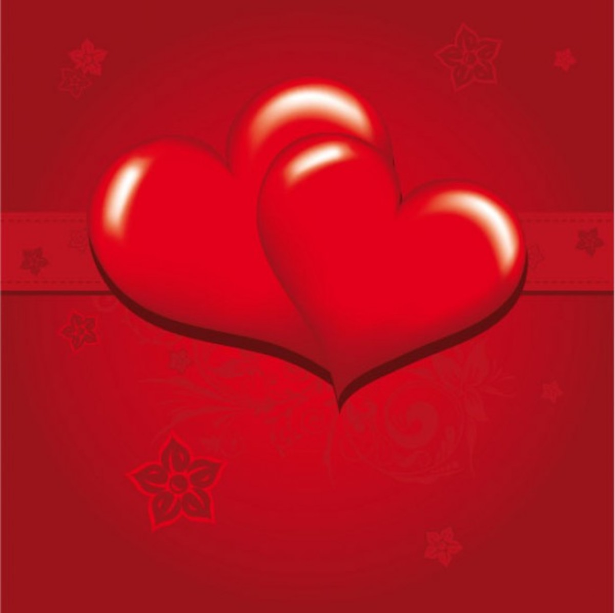 Double Red Hearts Picture