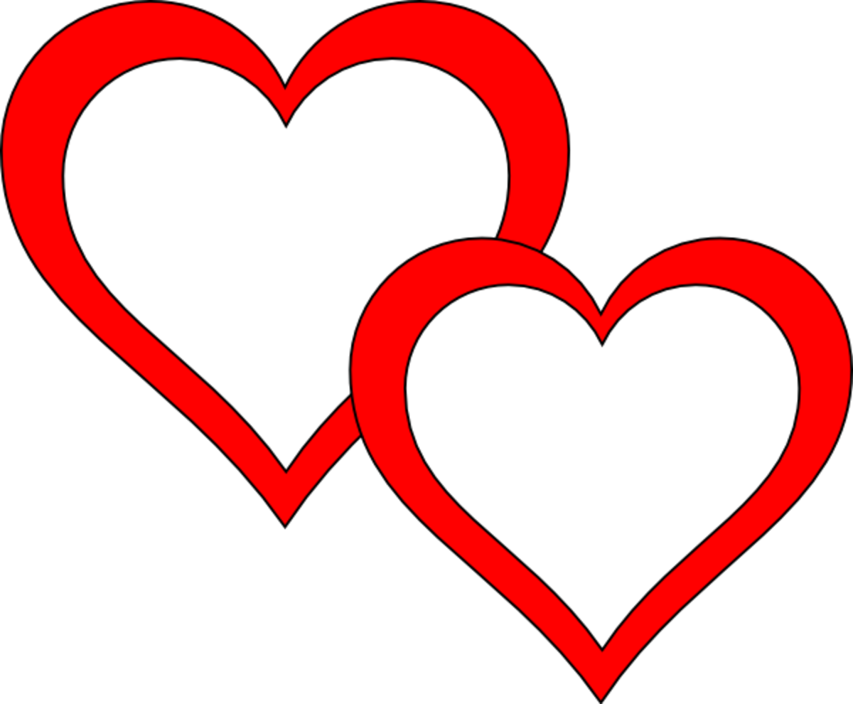 Red Hearts Clip Art