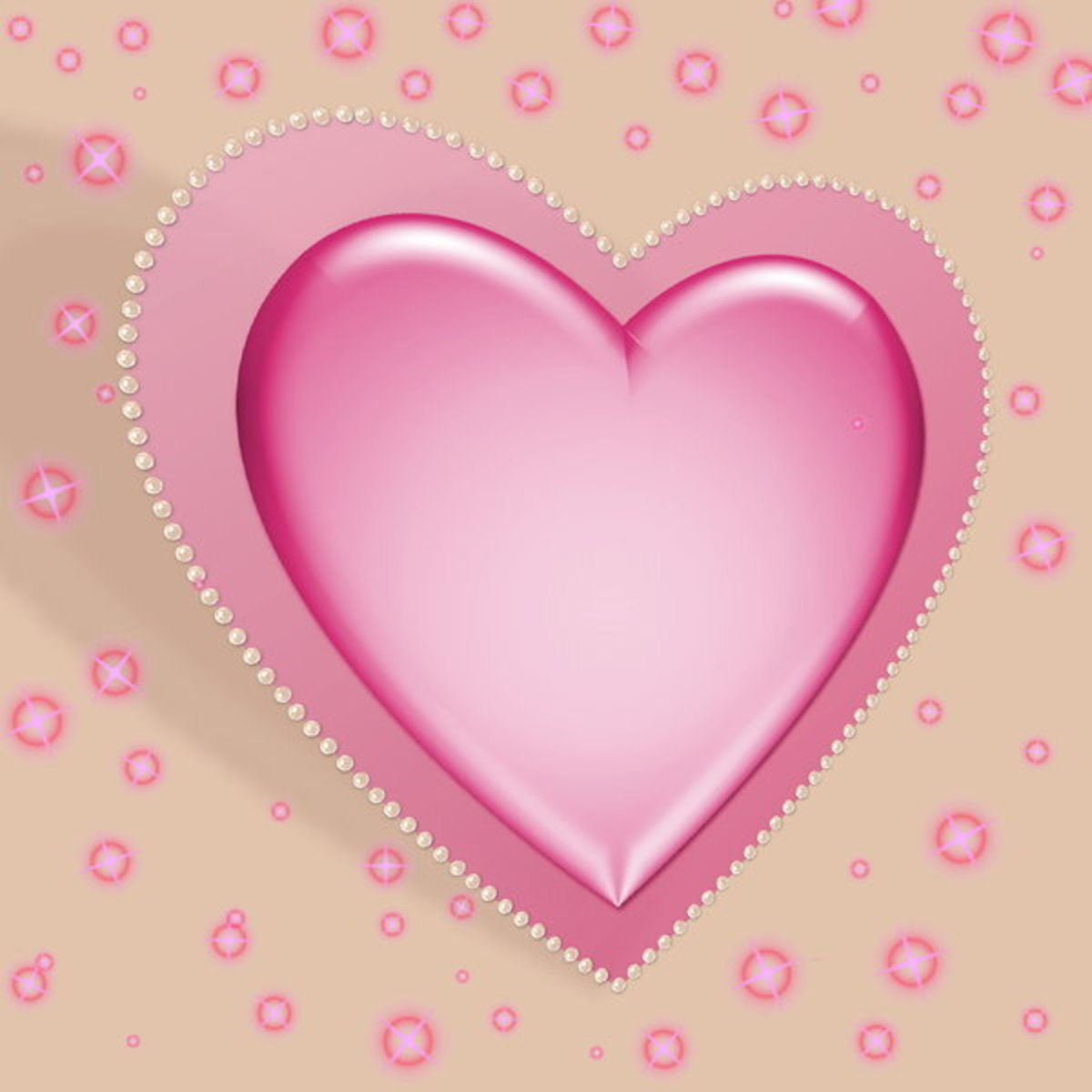Pink Satin Heart Picture